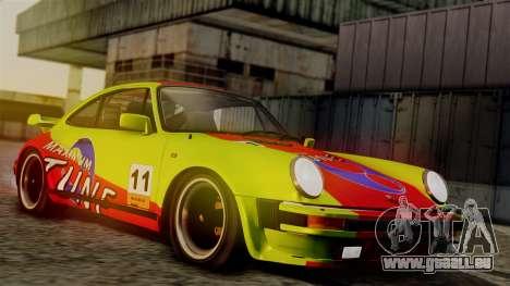 Porsche 911 Turbo (930) 1985 Kit C PJ für GTA San Andreas Unteransicht