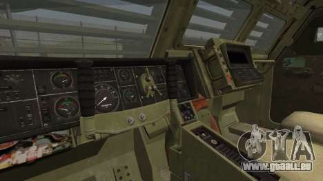 Hellenic Army M270 MLRS pour GTA San Andreas sur la vue arrière gauche