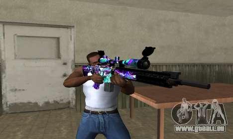 Automatic Sniper Rifle pour GTA San Andreas troisième écran