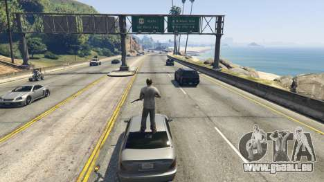Stand On Moving Cars für GTA 5