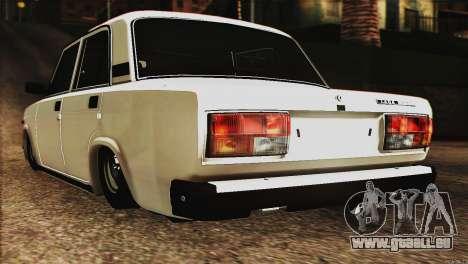 VAZ 2107 E-Design pour GTA San Andreas laissé vue