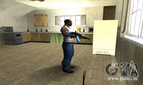 Blue Scan AK-47 pour GTA San Andreas troisième écran