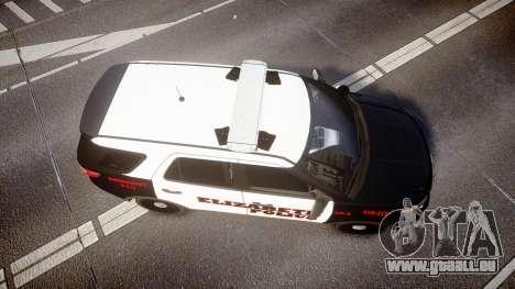 Ford Explorer 2011 Elizabeth Police [ELS] pour GTA 4 est un droit