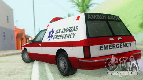 Premier Ambulance pour GTA San Andreas laissé vue