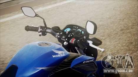 Honda CB650F Azul pour GTA San Andreas vue arrière
