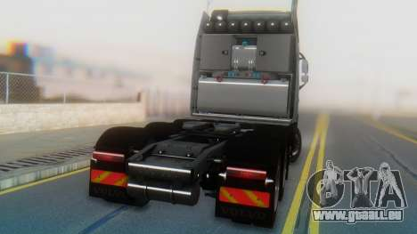 Volvo FH Euro 6 Heavy 8x4 pour GTA San Andreas vue intérieure