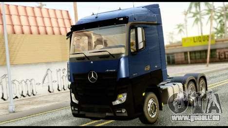 Mercedes-Benz Actros MP4 6x4 Exclucive Interior pour GTA San Andreas