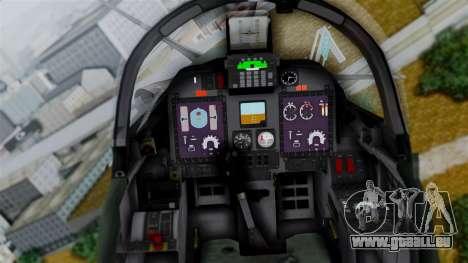 Embraer EMB-314 Super Tucano (FAP) pour GTA San Andreas vue arrière