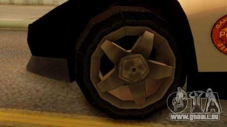 Lamborghini Diablo Police SA Style pour GTA San Andreas sur la vue arrière gauche