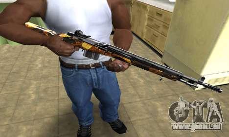 Gold Rifle für GTA San Andreas