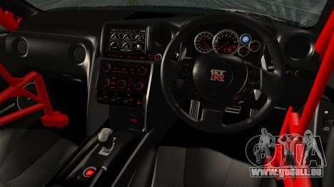 Nissan GT-R R35 Black Rock Shooter Itasha für GTA San Andreas zurück linke Ansicht