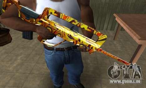 Golden AUG A3 pour GTA San Andreas