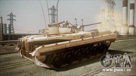 Call of Duty 4: Modern Warfare BMP-2 für GTA San Andreas zurück linke Ansicht