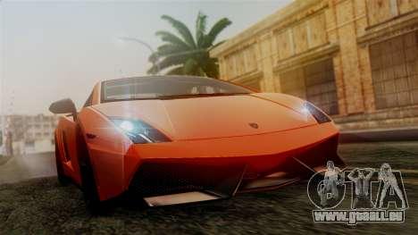Lamborghini Gallardo Superleggera 2011 pour GTA San Andreas