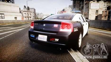 Dodge Charger 2010 LAPD [ELS] pour GTA 4 Vue arrière de la gauche