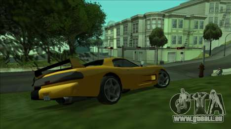 ZR-350 Double Lightning pour GTA San Andreas sur la vue arrière gauche