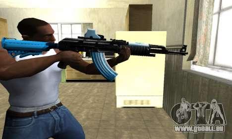 Blue Scan AK-47 für GTA San Andreas