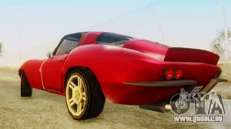 Chevrolet Corvette Sting Ray 427 SA Style für GTA San Andreas zurück linke Ansicht