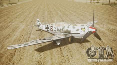 Messerschmitt BF-109 E-4 IJAAF pour GTA San Andreas sur la vue arrière gauche