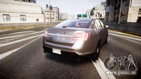 Ford Taurus 2010 Unmarked Police [ELS] für GTA 4 hinten links Ansicht