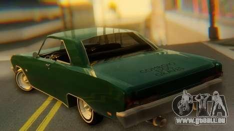 Dodge Dart Coupe pour GTA San Andreas laissé vue