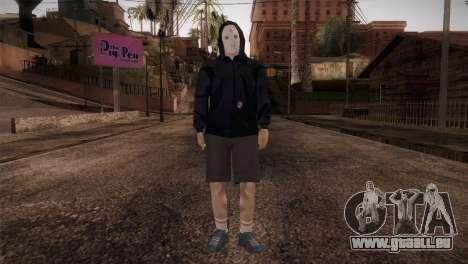 Söldner-mafia in der Kapuze und Maske für GTA San Andreas zweiten Screenshot