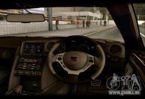 Nissan GTR-R35 Rocket Bunny pour GTA San Andreas vue arrière