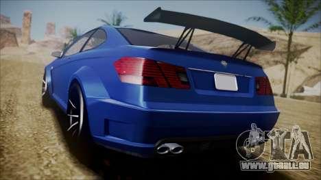 Benefactor Schwartzer Gray Series pour GTA San Andreas sur la vue arrière gauche