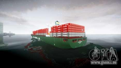 Ein container-Schiff für GTA 4 hinten links Ansicht