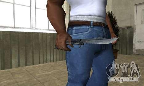 Butterfly Knife pour GTA San Andreas troisième écran