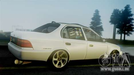 Toyota Corolla für GTA San Andreas zurück linke Ansicht