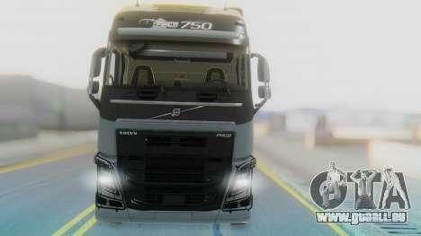 Volvo FH Euro 6 Heavy 8x4 pour GTA San Andreas vue arrière