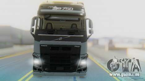 Volvo FH Euro 6 Heavy 8x4 für GTA San Andreas Rückansicht