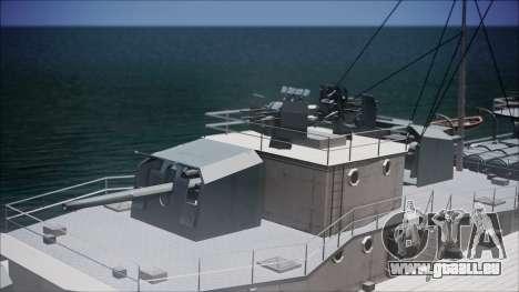 Type 34 Destroyer für GTA San Andreas Rückansicht