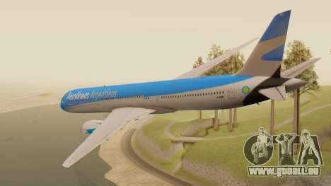 Boening 737 Argentina Airlines pour GTA San Andreas laissé vue
