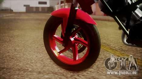 Honda CB150R Streetfire für GTA San Andreas zurück linke Ansicht