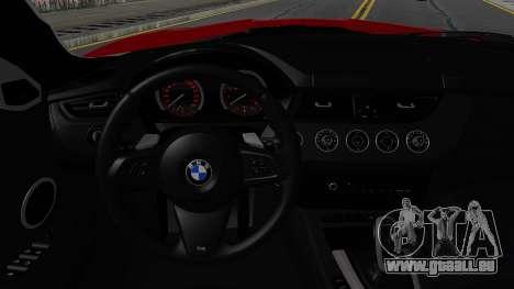 BMW Z4 sDrive35is 2011 2 Extras pour GTA San Andreas vue intérieure