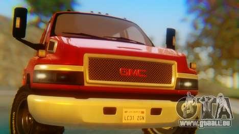GMC Topkick C4500 pour GTA San Andreas vue intérieure
