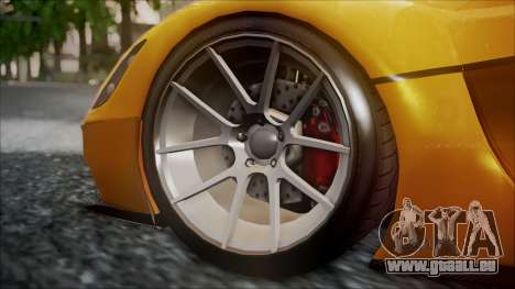 Grotti Turismo RXX-K für GTA San Andreas zurück linke Ansicht