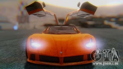 GTA 5 Pegassi Osiris SA Style für GTA San Andreas Rückansicht