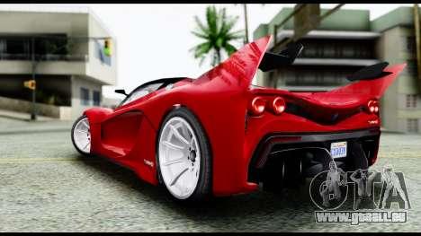 Grotti Turismo RXX-K v2.0 pour GTA San Andreas laissé vue