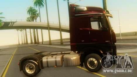 Mercedes-Benz Actros MP4 Stream Space Black pour GTA San Andreas sur la vue arrière gauche