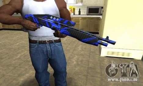 Blue Lines Combat Shotgun für GTA San Andreas