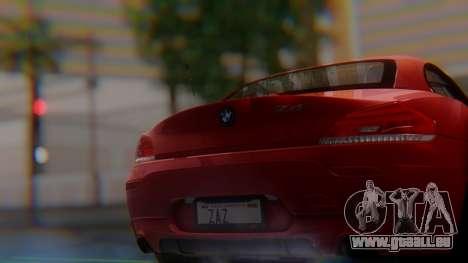 BMW Z4 sDrive35is 2011 2 Extras pour GTA San Andreas vue arrière
