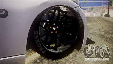 Nissan 370Z SPPC pour GTA San Andreas sur la vue arrière gauche