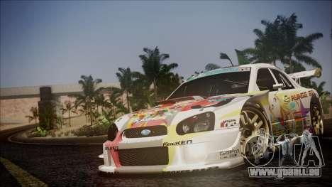 Subaru Impreza 2003 Love Live Muse Team Itasha pour GTA San Andreas vue de dessus