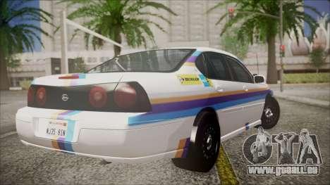 Chevrolet Impala FBI Slicktop pour GTA San Andreas laissé vue