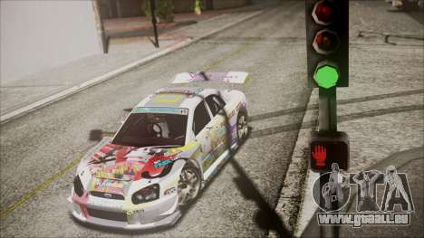 Subaru Impreza 2003 Love Live Muse Team Itasha pour GTA San Andreas