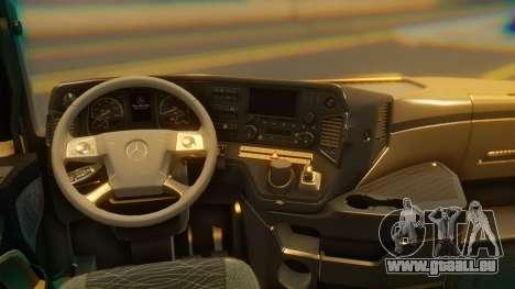 Mercedes-Benz Actros MP4 Stream Space Black pour GTA San Andreas vue arrière