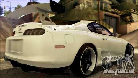 Toyota Supra 1998 E-Design pour GTA San Andreas laissé vue